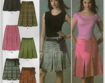 Misses Skirt In Two Lengths Size 12 14 16 18 20 Sewing Pattern 2005 Easy To Sew Simplicity 4498 Plus Size