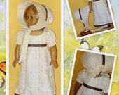 Regency Dress and Bonnet fits American Girl Doll Caroline Abbott