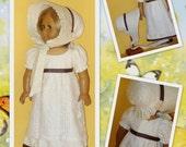 Regency Dress and Bonnet fits American Girl Doll Caroline Abbott