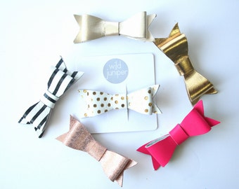 Baby Hair Clips - Leather Baby Hair Clips - Pick Your Clip