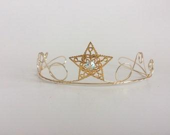 star tiara gold