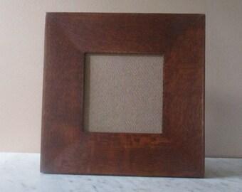 """Arts & Crafts Mission Quarter Sawn Oak 3"""" wide 6"""" X 6"""" Tile Frame For Cara"""
