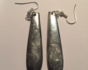 Silver plated spoon earrings #2