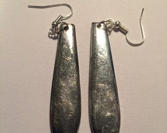 Silver plated spoon earrings #2