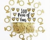 Gold engagement ring confetti, gold shower, gold wedding, gold, gold rings, gold shower decor, ring confetti, confetti, wedding confetti,