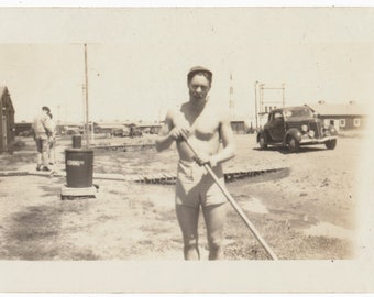 Shirtless in Seattle male worker art Photography vernacular photo snapshot social realism Male semi nude