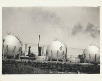 Abstract Industrial Landscape mid century modern minimalism photographs vernacular photos snapshot found old photograph found