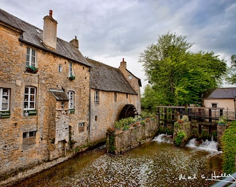 Bayeux France Historical Mill & Buildings on The River