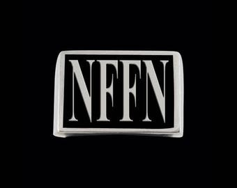 Stainless Steel NFFN 4 Letter Ring - Size 15 - Instock/Shipping