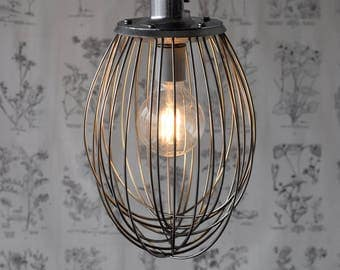Industrial Whisk Pendant Light, Handmade Modern Lighting