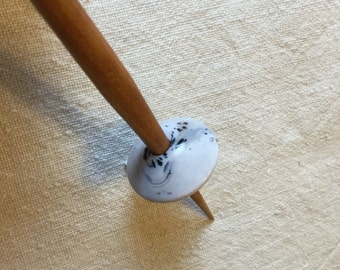 Support spindle with Faux Marble Whorl