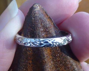 Vintage14kt white  gold eternity ring  wedding ring  anniversary ring  engraved