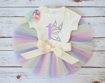 """Spring birthday outfit """"Emmeline"""" butterfly birthday outfit spring first birthday butterfly first birthday outfit pastel birthday outfit"""
