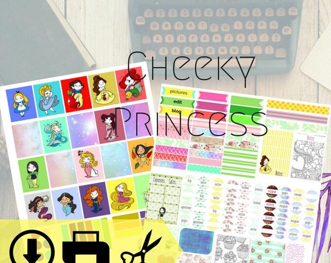 Cheeky Princess Digital Planner Weekly Kit Download