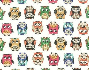 Nutex fabrics - Fat Quarter- Owls