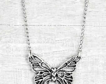 Butterfly Dreams Necklace -  Butterfly Necklace -  Inspirational Jewelry - Organic Necklace - N731
