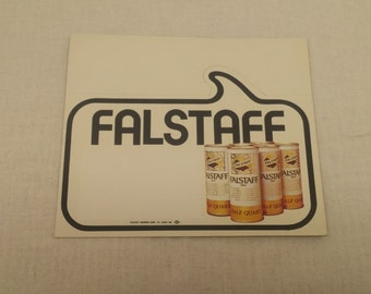 Vintage 1960s Falstaff POP Beer Sign - Falstaff Half-Quart Point of Purchase POP sign - Falstaff Brewing Corporation, St. Louis Missouri