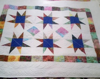 Quilt Baby Child - Quilt Hand Made - Quilted Lap quilt - Quilted Baby throw - Quilted Lap Quilt - Quilt chair back