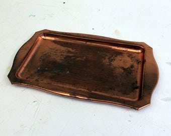 Copper Dropper -- Solid copper tray without excessive detailing