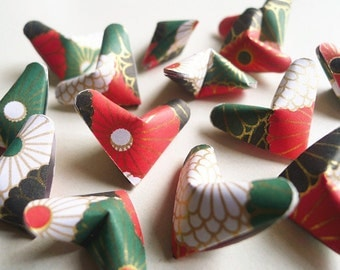 3D Origami Hearts - Lilies Paper Hearts/Party Supply/Home Decor/Gift Fillers/Embellishment