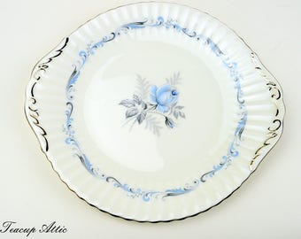 ON SALE Paragon Morning Rose Cake Plate, English Bone China, Replacement China, Garden Tea Party, ca. 1960