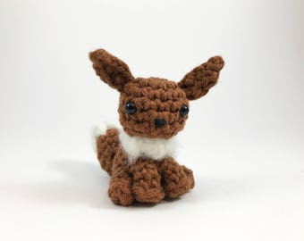 Eevee from Pokemon Amigurumi Kawaii Keychain Miniature Doll