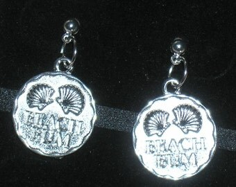 Beach Bum Seashell Earrings with Surgical Steel Posts
