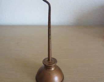 Small Copper Thumb Oil Can Vintage Tools & Hardware
