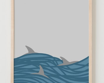Fine Art Print.  Dolphins.  October 2011.