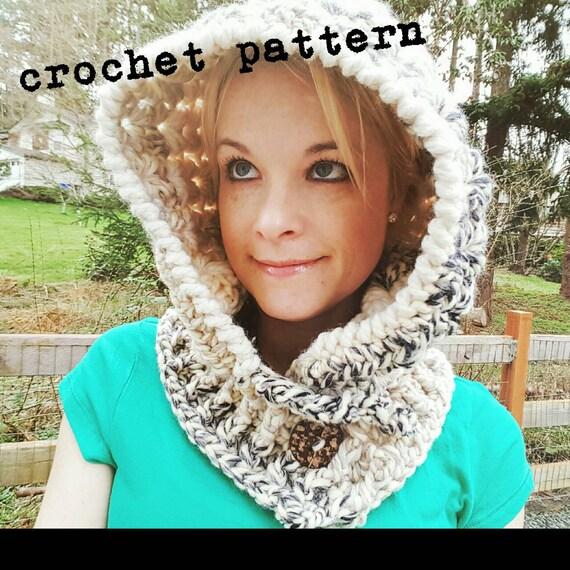 Crochet Hood Pattern Crochet Cowl Hood Pattern Chunky Cowl Neck