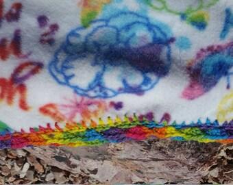 You're My End of the Rainbow Crocheted Fleece Blanket