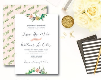 Desert Foothills Wedding Invitations | Printed Wedding Invitation Suite | Printed by Darby Cards Collective