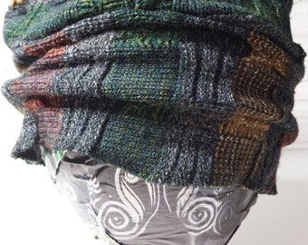 "Upcycled ""Slouch"" Knit Hat"