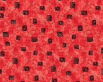 Calypso by Studio 8 for Quilting Treasures - Square Geo Texture (27009 -R Cayenne) - 1 Yard