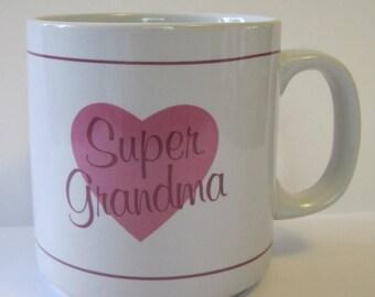 Vintage Super Grandma Coffee Mug