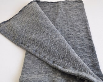 Hand Towel & head towel , Peshkir hand loomed vintage inspired in grey