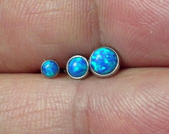 set of 3 316L Surgical Steel Opal Ear Tragus Cartilage Barbells Piercing Stud Ring  16g Mixed 3 size 6mm barbell