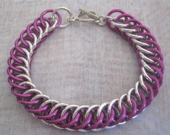 Voluptuous Violet Bracelet Chain Maille Aluminum Jewelry
