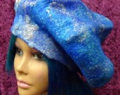 Easter Special Felted hat, Cute, summer, hat, hand made, in USA, Organic, Fairy hat, wearable art, costume art, fantasy hat, whimsical hat,b