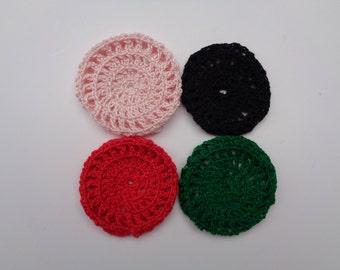 Mini Bun Cover, Cotton Bun Cover, Crochet Bun Cover, Bun Wrap, Bun Holder, Snood, Hair Bun Net, Ballet, Dance
