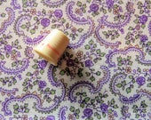 vintage feed sack fabric pieces -- purple floral print