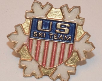 Vintage US Ski Team Olympic Pin
