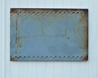 Magnetic Memo Board Grey Shabby Large - Vintage Industrial Shabby Paint - Wall Covering