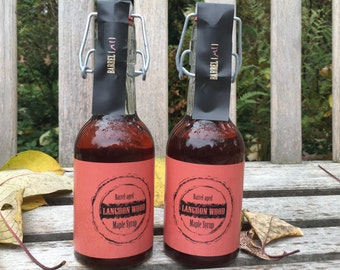 TWO Bottles of RUM Barrel-Aged Maple Syrup