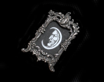 Tiny Lovely Antique Sterling Silver Baroque Tabletop Picture Frame-for Miniature