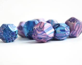 Polymer Clay Beads, Big Beads, Handmade Beads, Jewelry Supplies, Beading Supplies