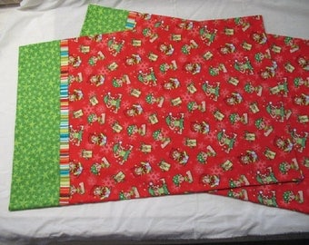 Elf Pillowcases.  Perfect for Christmas