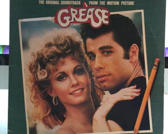 1978 Grease Original Soundtrack Epic Double Record Album Vinyl