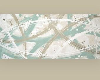 "Art Original, Abstract Painting,Painting,Art,Canvas Art,Acrylic Painting,Original Paintings By Ora Birenbaum Titled: Wink 3 20x48x1.5"""