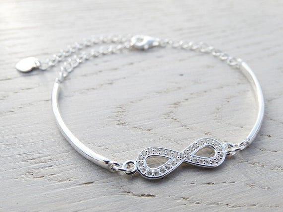 Infinity Bracelet - Topaz & Sterling Silver